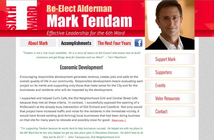 Mark Tendam Alderman 6th Ward