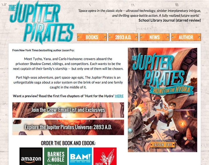 The Jupiter Pirates – Sci-Fi Adventure Book Series